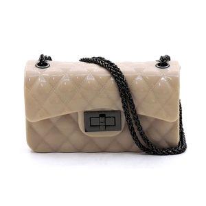 Beige Classic Jelly Crossbody Bag